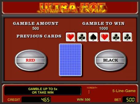 Риск игра в слоте Ultra Hot
