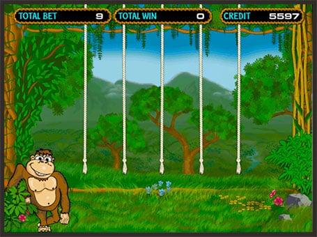 Бонус игра в онлайн аппарате Crazy Monkey