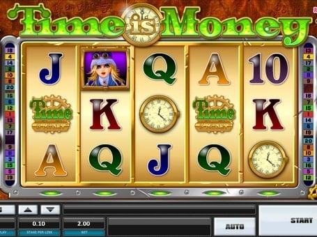 Комбинация символов в игровом автомате Time is Money