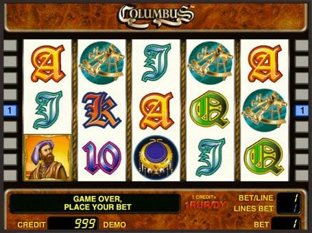 Символы игрового автомата Columbus