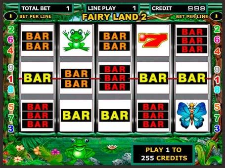 Выигрышные BAR символы автомата Fairy Land 2