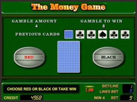 Риск игра на игровом автомате The Money Game